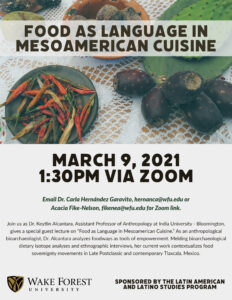 Food as Language in Mesoamerican Cuisine - March 9